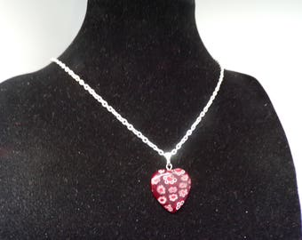 Featuring a floral heart pendant necklace