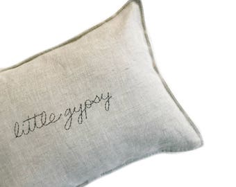 CUSTOM Handstitched Cushion cover- NATURAL