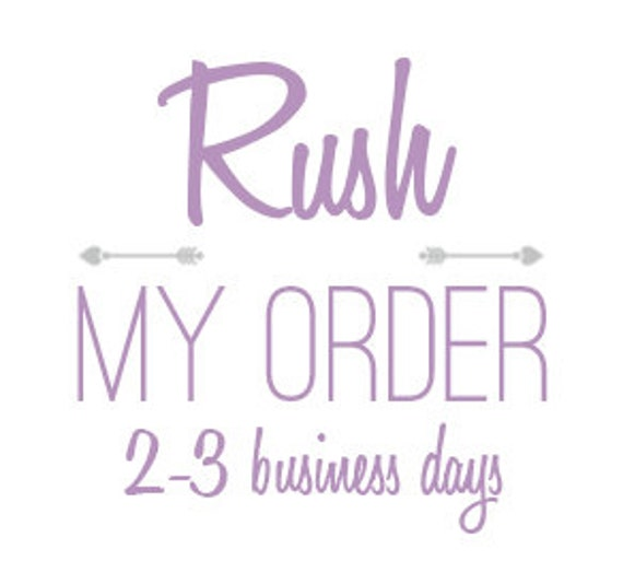 RUSH Production 3-4 ITEMS + Priority Shipping Upgrade