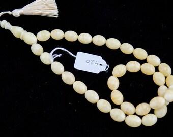 17-12.6 49 gramm Amber Prayer Worry Beads Rosary Tasbih Misbaha 420