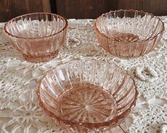 Antique Pink Bowls