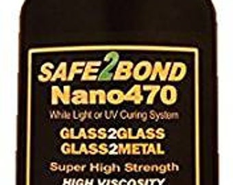 Nano470 High Strength Glass to Glass and Glass to Metal Construction Adhesive 200g