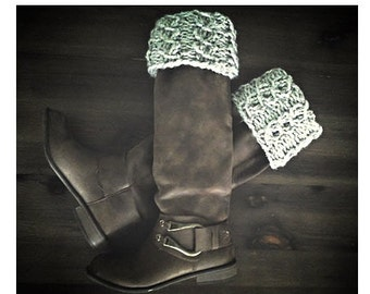 Fold-over Boot Cuffs - chunky knit boot cuffs, cable knit boot cuffs