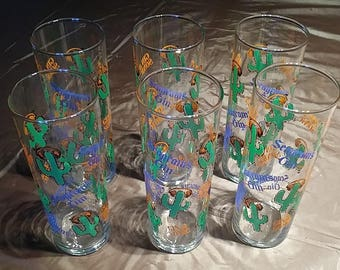 Set of 6 Seagram's Gin and Tonic Glasses