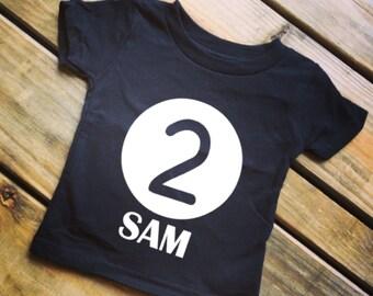 TWO Shirt - Birthday Shirt - Birthday Boy Shirt - Birthday Girl Shirt  Toddler Birthday Shirt - 2nd Birthday Shirt