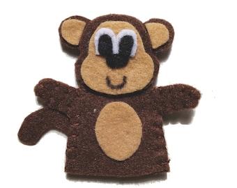 Monkey Felt Finger Puppet PDF Pattern Tutorial/Zoo Animal Finger Puppet Digital Pattern