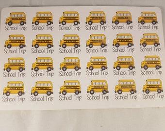 School Trip Planner Stickers