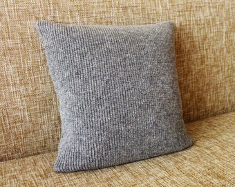 Knitted lambswool Pillow/Cushion cover/home accessories/indoor cushions/garden cushions/pool cushions/gray/black/white