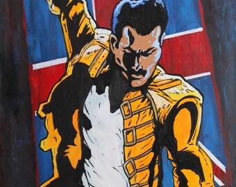 Freddie Mercury Artwork Poster