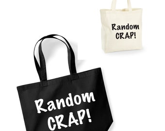 Random Crap! Lightweight Cotton Shopping Bag/Tote - Novelty Gift/Secret Santa/Funny