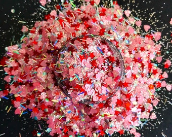 nail polish glitter, neon solvent resistant glitter, neon nail powder, glitter powder, glitter dust, diy craft supply, nail art supply