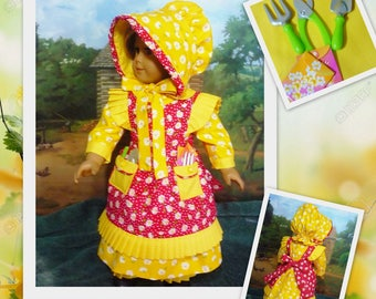 Mary, Mary Quite Contrary  Costume - Fits American Girl Doll Kirsten
