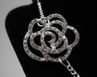 Radiant Rose & Pearl Necklace REDUCED PRICE