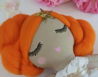 READY TO SHIP Original Cloth Doll, 16.9 inch