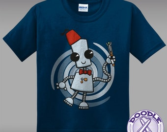 Ned the Time Traveller - Cute Kids Whovian T-shirt