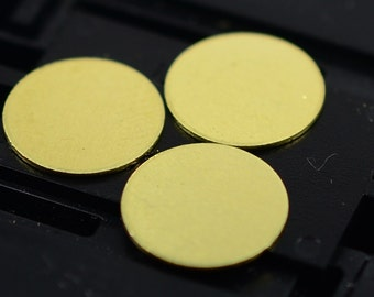 150  Pcs Raw Brass 10 mm Stamping Disc ( No Holes ) Thickness Of 0.40 mm - 25 Gauge