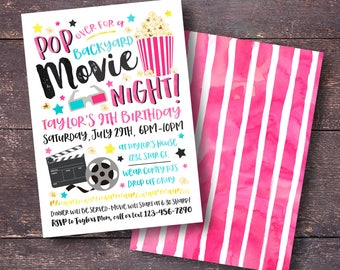 Movie invitation Etsy