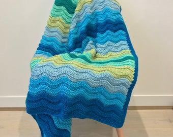 Crochet ripple blanket | made to order