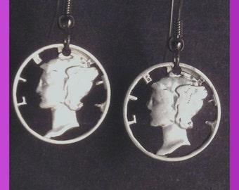 Cut out Liberty Dimes  silver