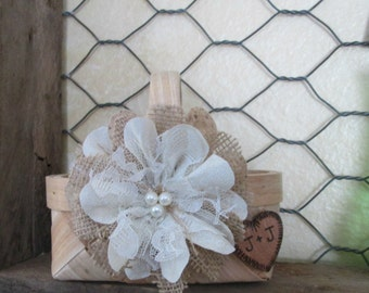 Rustic Flower Girl Basket, Flower Girl Basket, Wedding Basket, Burlap Flower Girl Basket, Rustic Wedding, Basket for Flower Girl