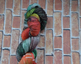 A Morning this Mild on Sparkle Sock, Hand Dyed Yarn