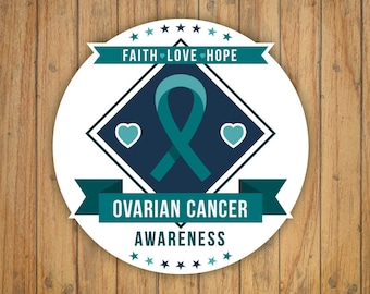 Ovarian Cancer Awareness Sticker