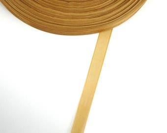 5 meters of 10 mm medium brown organza Ribbon