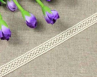 x 1 meter Ribbon lace cotton beige Y01024 1.8 CM wide