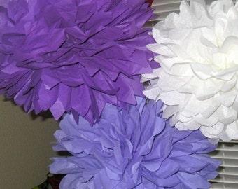 Tissue Paper Pom Poms - 10 Tissue Poms - Your Color Choice- SALE