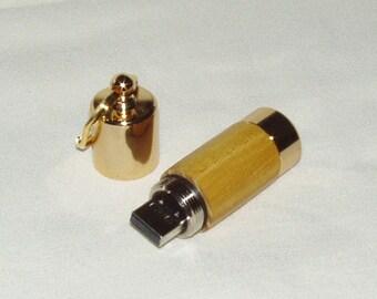 Flash Drive Key Ring, 16GB, Osage Orange Wood