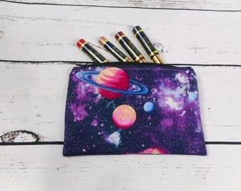 makeup bag makeup pouch pencil bag pencil pouch galaxy bag galaxy pouch galaxy makeup bag glitter bag glitter galaxy gifts under 10