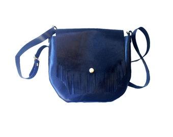 Evening purse, Leather black bag, Leather purse black, Tassel black bag,  Black evening purse, Black leather clutch, Black evening bag