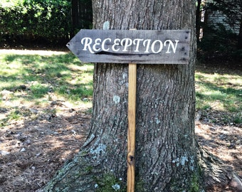 Reception Sign Wedding, Wooden Wedding Signs, Rustic Wood Signs, Wedding Arrow Signs, Custom Wedding Signs, Wedding Signs Wood, Wooden Arrow