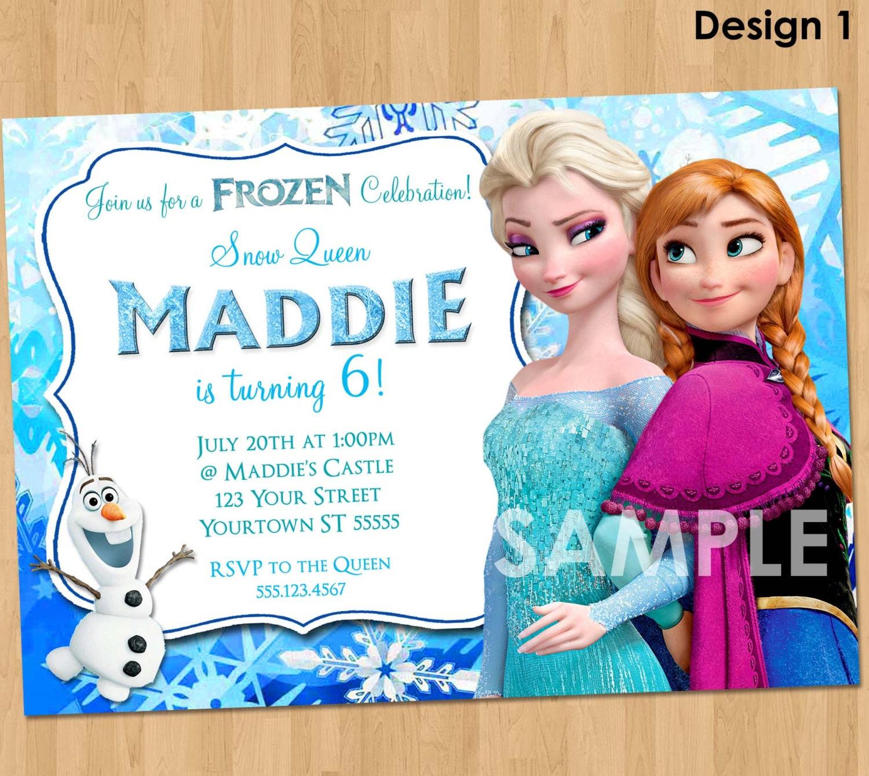 Frozen Invitation Birthday Disney