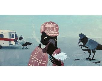 A Murder. print of an original acrylic painting