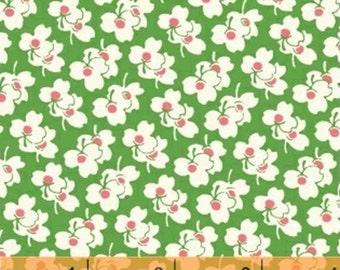 Half Yard A is For... - Clover in Green - Cotton Quilt Fabric - by MY-KT for Windham Fabrics (W2169)