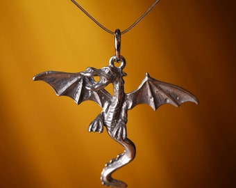 Winged Dragon Pendants, 3 Dragons With Wings