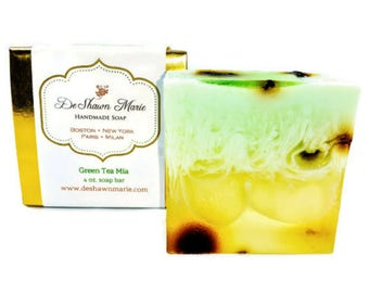 Green Tea Soap/Handmade Soap/Vegan Soap/Handcrafted Soap/Soap Gift/Homemade Soap/Christmas Gift/Christmas Soap Gift/Vegan Gift/Natural Soap