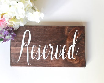 Reserved Sign, Wedding Reserved, Reserved Chair Sign, Reserved Table Sign, Hanging Chair Sign, Grooms Family, Brides Family, Wood Sign