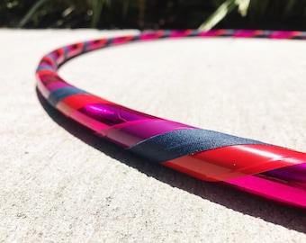 Fuchsia Flow Dance Hoop // Beginner Hula Hoop // Handmade Fitness Hoop