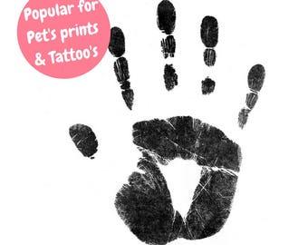 BABYink® Black Ink-less Print Kit - Non-Toxic, Baby Safe - Handprint | Footprint | Keepsake  | Baby Gift  | Baby ink  | Print Kit