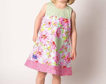 Nicole Reversible A-Line Dress, 6mo - 10 years old, Girl's A Line Dress, A-Line Dress, summer girl dress, Girl's boutique, baby dress