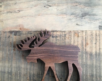 Wood Moose Ornament