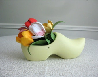 Handmade Paper Tulips in Holland Clog