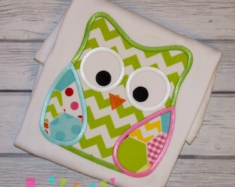 Owl 6 Applique Design