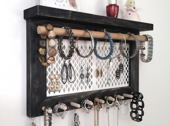 Jewelry Organizer Wall Hanging Necklace Holder Earring