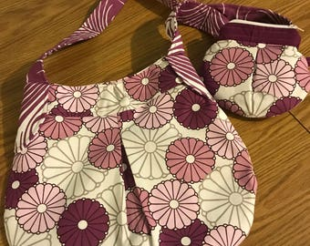 Floral Purse with Pouch