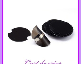 10 support, soft display black ring