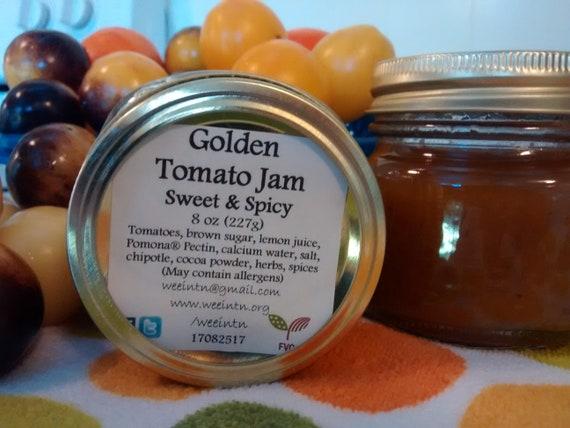 Handcrafted Tomato Jam, Golden Tomato Jam