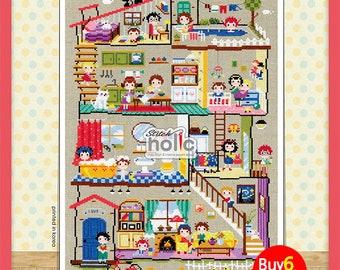 SO-G40   Little House,  sodastitch cross stitch chart